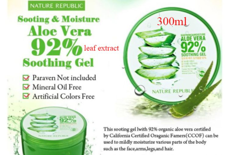 ALOE VERA GEL from Korea 300ml Soothing 92% moisture Perfect Skin Care Product