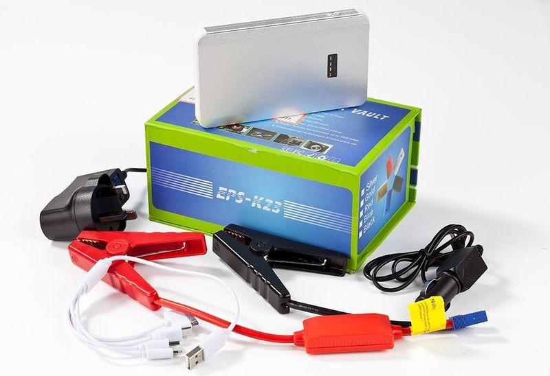 High Power Bank equipped with car start jumper and mobile phone charger FREE Shipping in Malaysia only